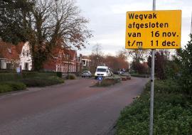 Tramstrjitte afgesloten voor doorgaand verkeer.
